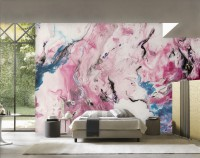 Acrylic Style Colorful Brush Wallpaper Mural