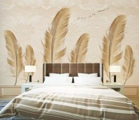 Brown Feather Wallpaper Mural