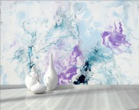 Turquoise Purple Marble Style Brush Wallpaper Mural