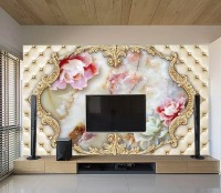 Pink Peony Floral Ceiling Wallpaper Mural