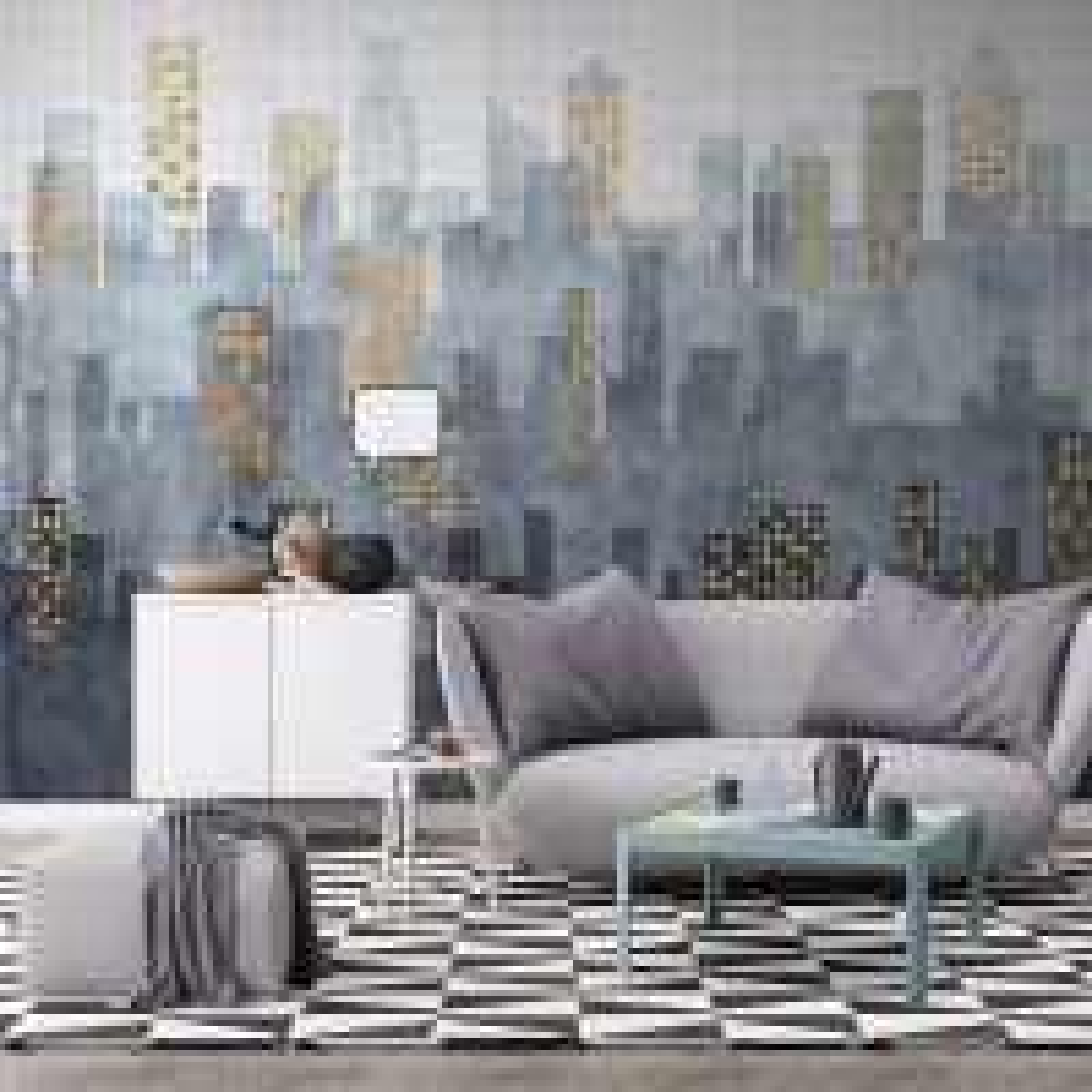 City Silhouette Wallpaper Mural