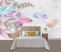 Colorful Feather Wallpaper Mural