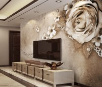 Dark Rose and Daisy Floral Wallpaper Mural