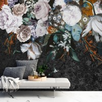 Dutch Floral Bouqet Wallpaper Wallpaper Mural