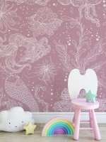 Kids Underwater Mermaid Girl Wallpaper Mural