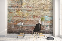Faux Brick Pattern Wallpaper Mural