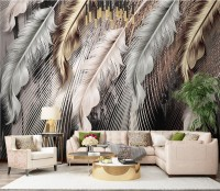 Nordic Light Feathers Wallpaper Mural