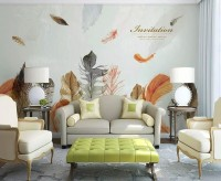 Vintage Feather Wallpaper Mural