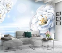 Abstract Floral Wallpaper Mural