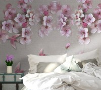 Cherry Blossom withh Pink Birds Wallpaper Mural