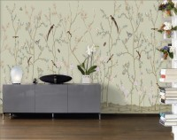 Chinese Floral Branches with Little Birds Wallpaper Mural