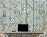 Chinese Style Vintage Floral Blossom Wallpaper Mural