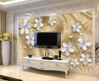 Crystal Daisy Floral Wallpaper Mural