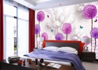 Dandelion and Orchid Floral Wallpaper Mural