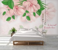 Floral Art Magnolia Flowers Wallpaper Mural