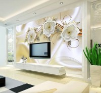 Jewelry Floral with Faux Silk Fabric Wallpaper Mural