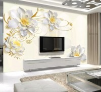 Lotus Floral Art Wallpaper Mural