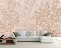 Marble Floral Patterned Wallpaper Mural