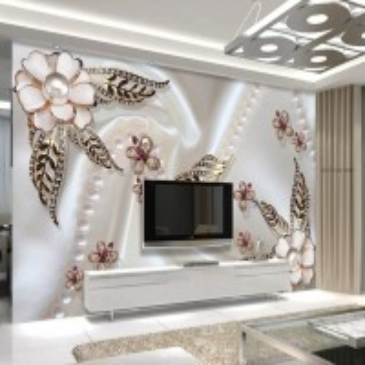 Pearl Flower Wallpaper Mural