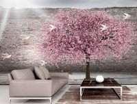 Pink Cherry Blossom Wallpaper Mural