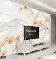Soft Pink Daisy Floral Wallpaper Mural