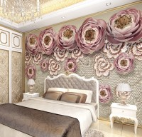Soft Pink Lace Floral Wallpaper Mural