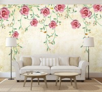 Soft Pink Rose Floral Wallpaper Mural