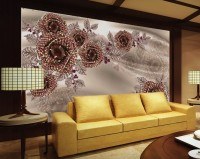 Swarovski Rose Floral Wallpaper Mural
