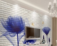Transparent Poppy Floral Wallpaper Mural