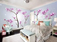 Watercolor Pink Blossom Art Wallpaper Mural