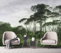 Tropical Forest and Horned Deer Wallpaper Mural