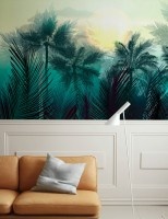 Tropical Palm Forest Wallpaper Mural