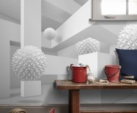 Geometric Shape and Abstract Ball Wallpaper Mural