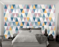 Geometric Style Colorful Triangle Wallpaper Mural