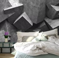Modern Geometric Shapes Wallpaper Mural