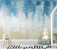 Nordic Geometric City Wallpaper Mural