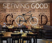 Bicycle Brick Wall Art Wallpaper Mural