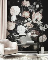 Dutch Floral Bouqet Wallpaper Mural