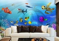 Cartoon Undersea Wallpaper Mural