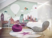 Kids Historical Places Wallpaper Mural