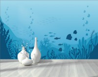 Kids Underwaters and Fishes Wallpaper Mural