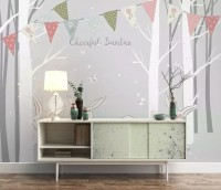 Rabbits in the Gray Forest Wallpaper Mural