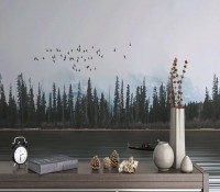Lake Landscape and Forestscape Wallpaper Mural