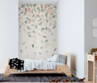 Colorful Leaf Pattern Wallpaper Mural