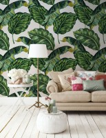 Tropical Banana Leaf Wallpaper Mural