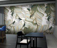 Tropical Fresh Leaf Wallpaper Mural