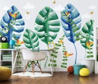 Watercolor Tropical Leaf Wallpaper Mural