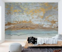 Gold Marbling Wallpaper Mural