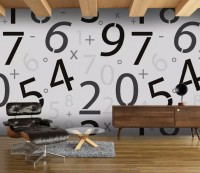 Math Numbers Wallpaper Mural