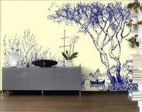 Nostalgic Charcoal Forest Wallpaper Mural